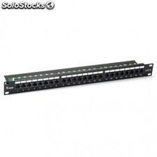 Patch panel equIP 135424 - 24 puertos - categoria 6 - 45º dual idc (lsa y 110)