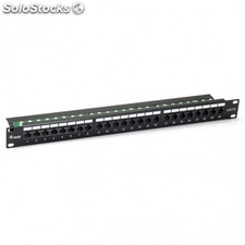 Patch panel equip 135424 - 24 puertos - categoria 6 - 45º dual idc (lsa y 110) -