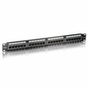 Patch panel equip 235324 - 24 puertos - categoria 5 - 45º dual idc