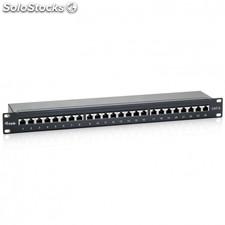 Patch panel equip 326424 - 24 puertos - categoria 6 - 45º dual idc (lsa y 110) -