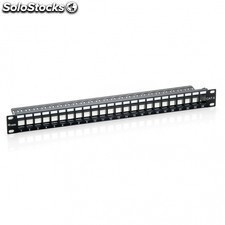 "Patch panel equIP 769224 - 24 puertos keystone - categoria 6a - 19""/48.2cm -"