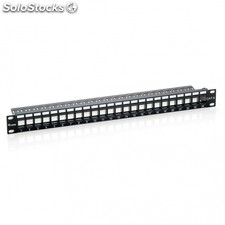 "Patch panel equip 769224 - 24 puertos keystone - categoria 6A - 19""/48.2CM - 1U"