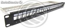Patch Panel for keystone rack 19 to 24 110 with comb (RP82)