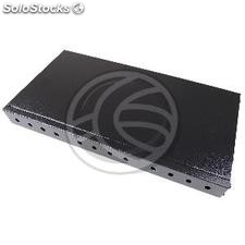 "Patch panel rack 19"" nero in fibra ottica 1U ST 12 (FQ02)"