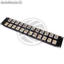 Patch panel rack19 12 female RCA-port 12-port BNC female 2U (XQ32)