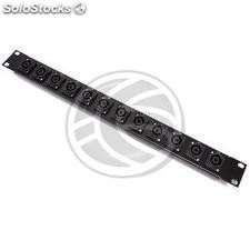 Patch panel rack19 12-port Speakon NL4-hembra 1U (XQ21)