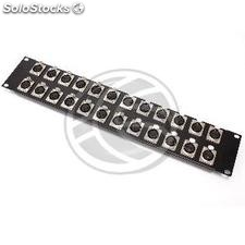 Patch panel rack19 24-port XLR3-hembra 2U (XQ25)