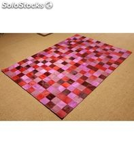 Patchwork multy rosa-rojo - home