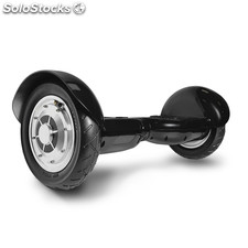 "Patin Eléctrico Scooter rueda de 10"" color negro"
