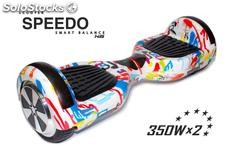 Patin Eléctrico Speedo Smart Balance Led Party 18km/h + Bolsa Tr