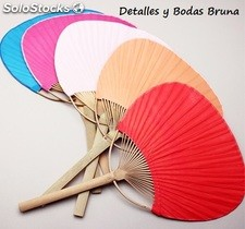 Pay pay bambu y papel de colores. Pai pai detalles boda. Abanico pai pay nipon