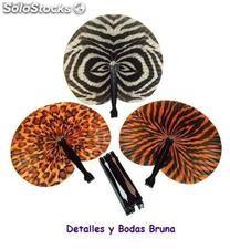 Pay pay plegable animal print. Abanico pai pai barato boda, fiestas, eventos