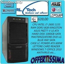 Pc completo desktop intel i7 2600-ram 8gb-hd 1tb-dvd blue ray-asus p8z77-v le