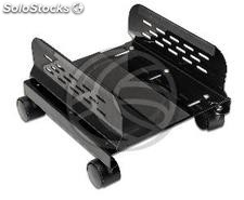 PC stand for computer metal support with wheels in black color 13-25 cm
