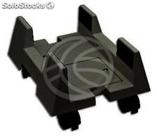 PC stand for computer support with wheels in black color (AC01-0002)