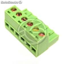 PCB female connector 6-pin 5.08mm (TD25)