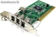 Pci Card FireWire 400 ieee 1394 flex-atx (3 ext + 1 int) (FW03)