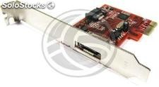 PCI-Express adapter to 6 Gbps SATA3 2-port int + ext (DT63)