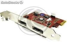 Pci-Express adapter to eSATA + usb (2 ext) eSATAp SIL3132 (DT07)