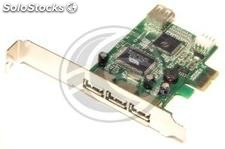 Pci-Express Card usb 4-Port Standard and Flex-atx (3 +1 ah) (US33-0002)