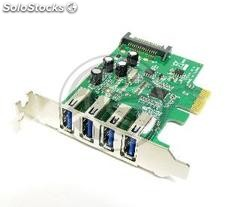 PCI-Express to SuperSpeed USB 3.0 External 4-port low profile (UU05)