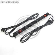 PDU strip 12 C13 way for server rack 19 ' ' with switch and 2 electrical wires