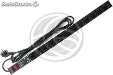 PDU strip 12 way for server rack 19 ' ' with switch and surge protected by