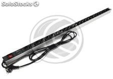 PDU strip 24 way for server rack 19 ' ' with switch and surge protected by