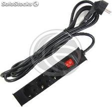 PDU strip 3 way for server rack 10\'\' with switch by RackMatic (RE72)