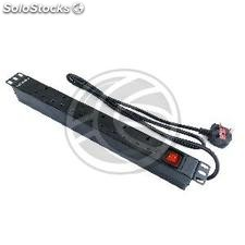 PDU strip 6 way BS1363 for server rack 19 ' ' UK plug with switch by RackMatic