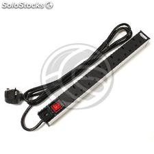 PDU strip 6 way BS1363 for server rack 19 ' ' UK plug with switch RackMatic