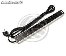 PDU strip 6 way for server rack 19\'\' surge protected by RackMatic (RE21-0002)
