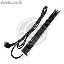 PDU strip 6 way for server rack 19 ' ' with switch and surge protected by