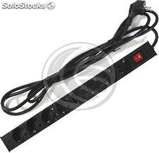"PDU strip 8 way for server rack 19"" with switch RackMatic (RE11)"