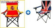p che chaise pliante camping plage drapeau l 39 espagne et. Black Bedroom Furniture Sets. Home Design Ideas