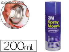 Pegamento scotch spray mount 200 ml adhesivo reposicionable por tiempo