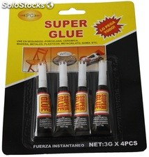 Pegamento super glue 4 uds
