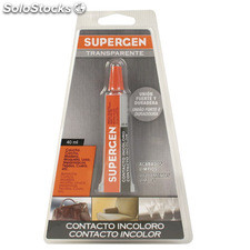 Pegamento Supergen Incoloro 40 ml.