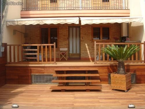Madera para exterior amazing deck composite tarima with for Madera ipe exterior