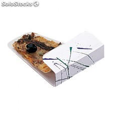"Pelle ""fast food"" - attrape pizza 12x22,3 cm blanc carton"