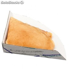"Pelle ""fast food"" - crepes 17x17x2 cm blanc carton"