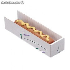 "Pelle ""fast food"" - hot dog 18x4,5x4 cm blanc carton"