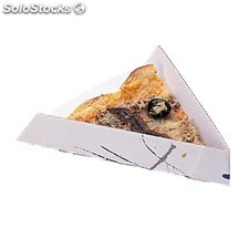 "Pelle ""fast food"" triangulaire - pizzas 21x16,5x3,5 cm blanc carton"