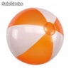 Pelota de playa Atlantic inflable bicolor, segmentos blancos y coloreados,