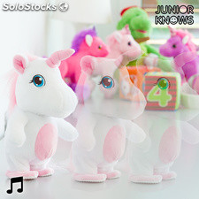 Peluche Andador con Grabador y Reproductor de Voz Unicornio Junior Knows