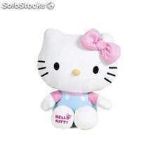 Peluche hello kitty shiny ribbons 24cm - rosa