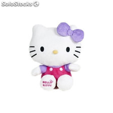 Peluche hello kitty shiny ribbons 24cm - violeta
