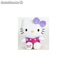 Peluche hello kitty shiny ribbons 24CM - violeta - play by play - hello kitty -