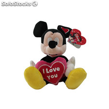 Peluche Mickey I love you 25 cm
