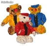 Peluche ours marins toiles cires 26cm
